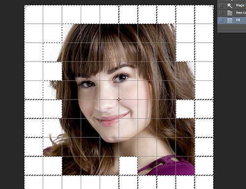 langkah ke dua belas Cara Membuat Efek Color Grid (Efek Kotak Warna) Dengan Photoshop