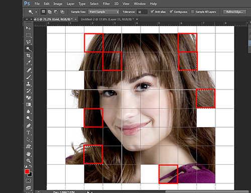 langkah ke tiga belas Cara Membuat Efek Color Grid (Efek Kotak Warna) Dengan Photoshop