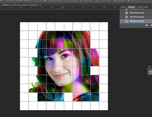 langkah ke tujuh belas Cara Membuat Efek Color Grid (Efek Kotak Warna) Dengan Photoshop