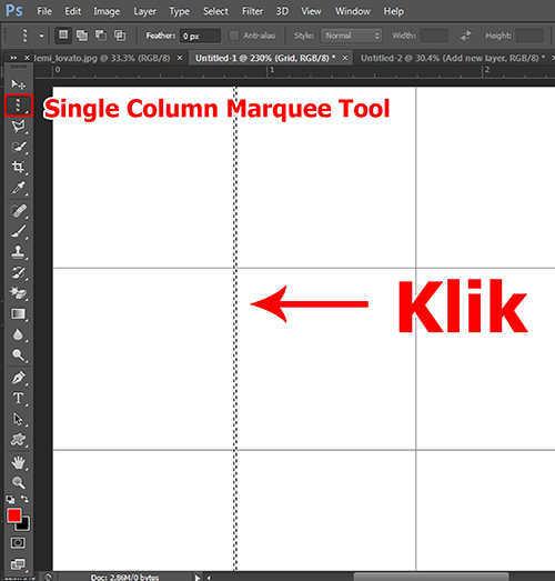 langkah ke lima Cara Membuat Efek Color Grid (Efek Kotak Warna) Dengan Photoshop