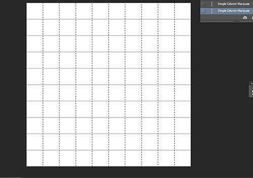 langkah ke enam Cara Membuat Efek Color Grid (Efek Kotak Warna) Dengan Photoshop