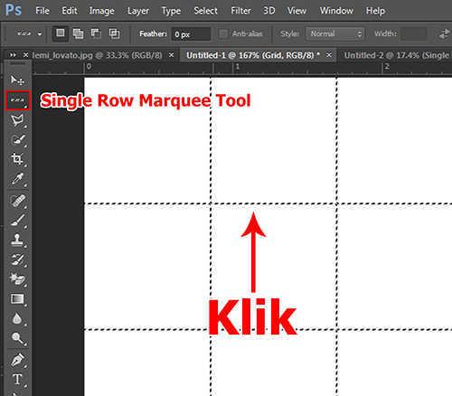 langkah ke tujuh Cara Membuat Efek Color Grid (Efek Kotak Warna) Dengan Photoshop