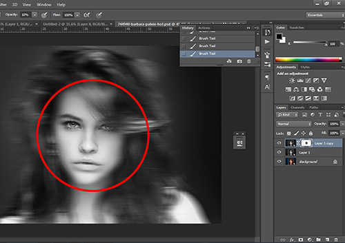 langkah ke tujuh Cara Membuat Efek Hantu Dengan Photoshop