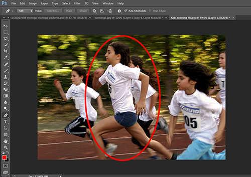 langkah pertama Cara Membuat Efek High Speed Motion Trail Dengan Photoshop