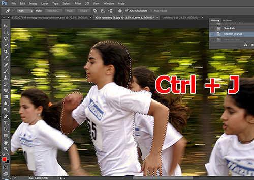 langkah ke tiga Cara Membuat Efek High Speed Motion Trail Dengan Photoshop