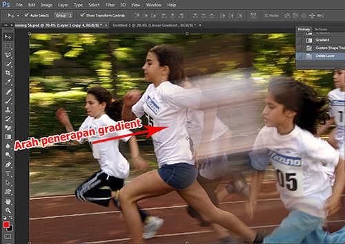 langkah ke sembilan Cara Membuat Efek High Speed Motion Trail Dengan Photoshop