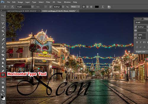 langkah pertama Cara Membuat Efek Neon Pada Teks Dengan Photoshop