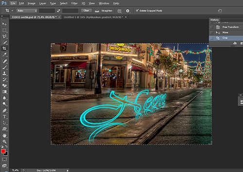 langkah ke sepuluh Cara Membuat Efek Neon Pada Teks Dengan Photoshop