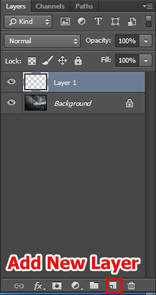 langkah pertama Cara Membuat Efek Petir Dengan Photoshop