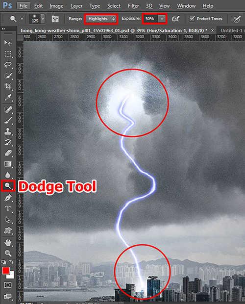 langkah ke tujuh belas Cara Membuat Efek Petir Dengan Photoshop