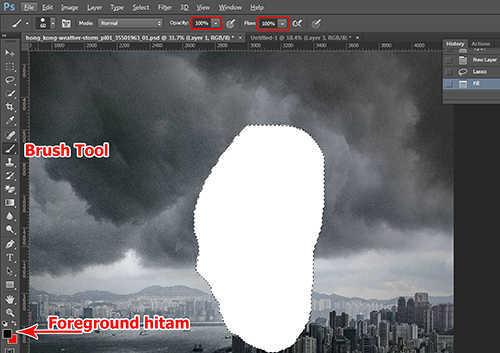 langkah ke lima Cara Membuat Efek Petir Dengan Photoshop