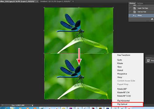 langkah ke dua Cara Membuat Refleksi Pada Air Dengan Photoshop