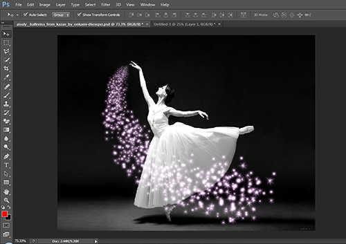 langkah ke tiga belas Cara Menambah Efek Sparkle Pada Foto Dengan Photoshop