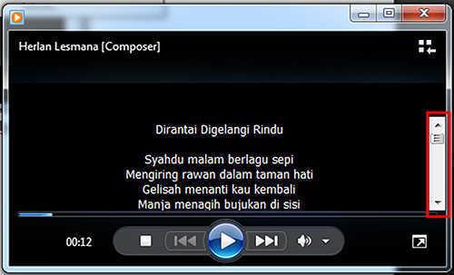 langkah ke sembilan Cara Menambah Lirik Pada Lagu Mp3