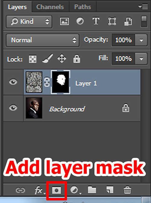 langkah ke lima Cara Menerapkan Tekstur Pada Wajah Dengan Photoshop