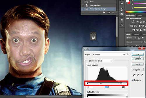 langkah ke delapan Cara Mengganti Wajah Dengan Photoshop