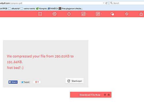 langkah ke dua Cara Mengurangi Ukuran File PDF
