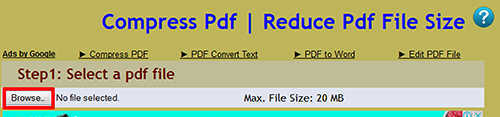langkah pertama Cara Mengurangi Ukuran File PDF