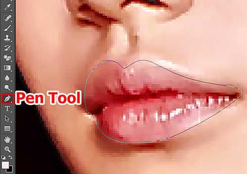 langlah kedua Cara Mewarnai Bibir dengan Photosop