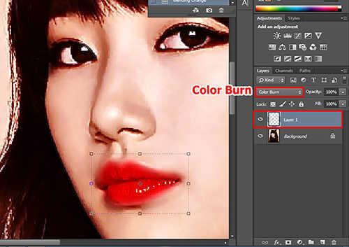 langkah ke delapan Cara Mewarnai Bibir dengan Photosop