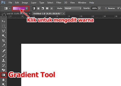 langkah pertama Cara Membuat Efek Stiker 3D pada Teks dengan Photoshop