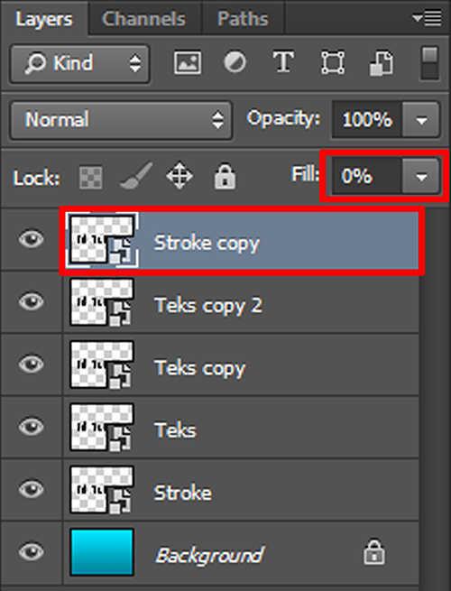 langkah ke sembilan Cara Membuat Efek Stiker 3D pada Teks dengan Photoshop