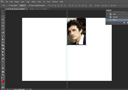 langkah ke empat Cara Membuat Efek Cermin Dengan Photoshop