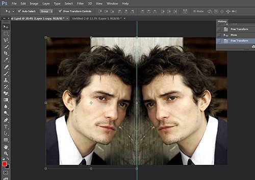 langkah ke enam Cara Membuat Efek Cermin Dengan Photoshop