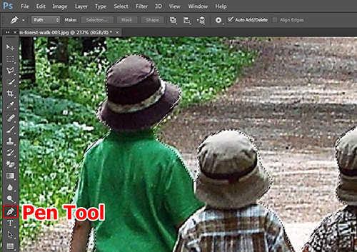 langkah pertama Membuat Efek Color Invert Dengan Photoshop