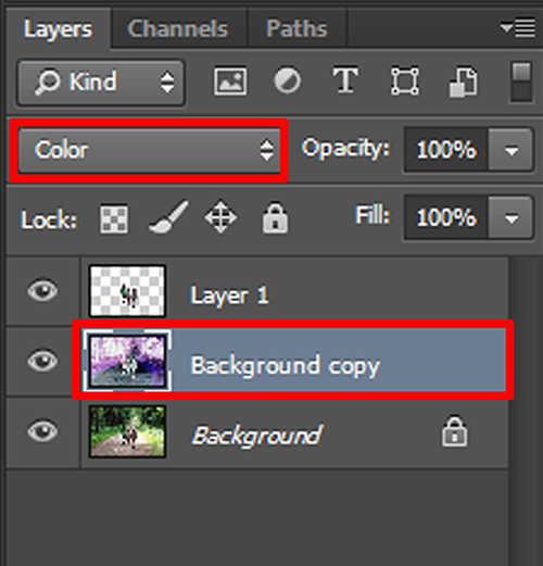 langkah ke empat Membuat Efek Color Invert Dengan Photoshop