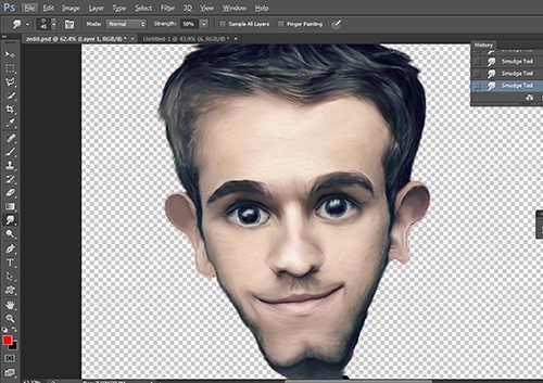langkah ke tujuh belas Membuat Karikatur Menggunakan Photoshop