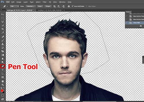 langkah ke empat Membuat Karikatur Menggunakan Photoshop
