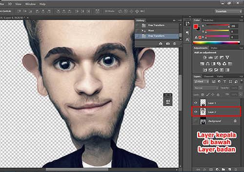 langkah ke sepuluh Membuat Karikatur Menggunakan Photoshop