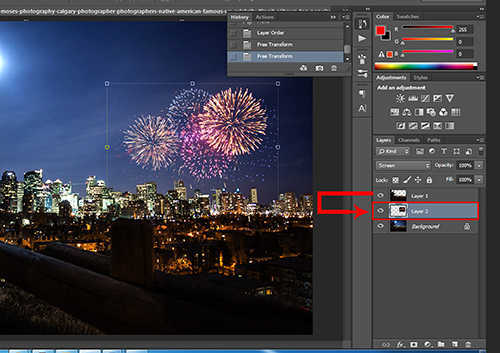 langkah ke lima Cara Menambah Kembang Api Pada Foto Dengan Photoshop