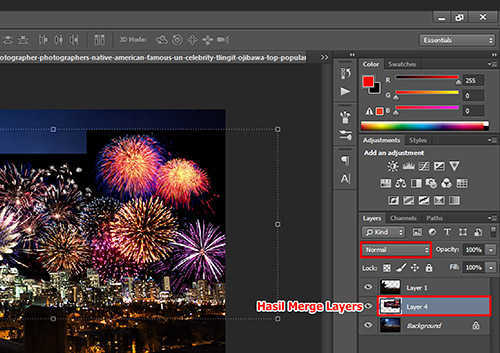 langkah ke enam Cara Menambah Kembang Api Pada Foto Dengan Photoshop