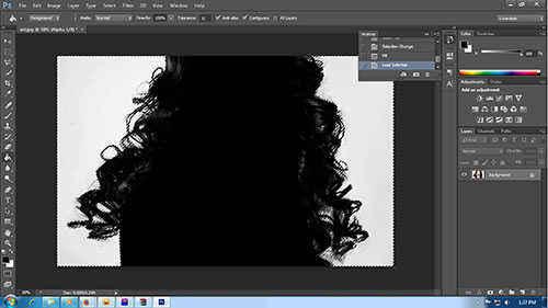Langkah kedelapan cara seleksi rambut dengan photoshop