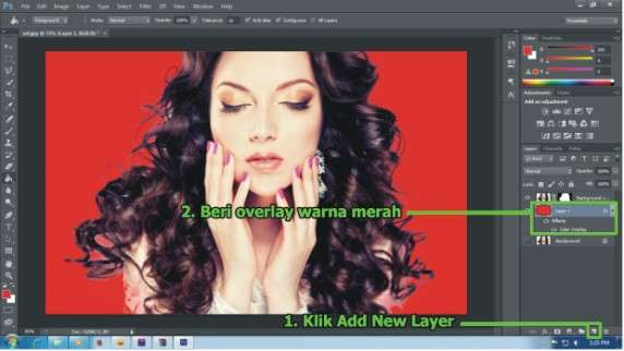 Cara menyeleksi rambut dengan Photoshop