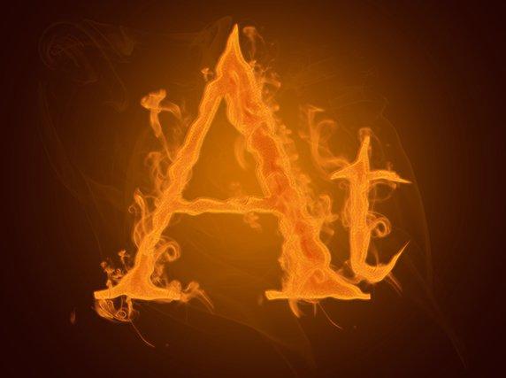 hasil Cara Membuat Efek Api Pada Tulisan dengan Photoshop
