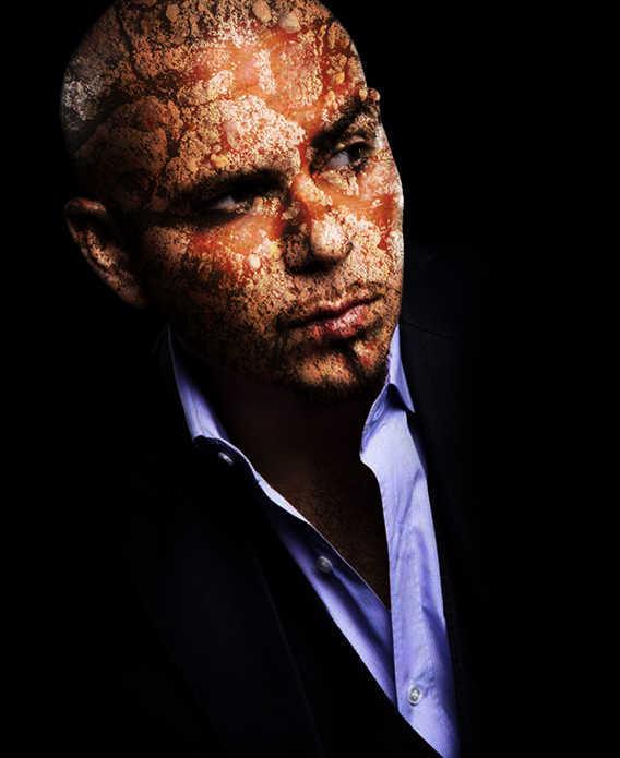contoh hasil Cara Menerapkan Tekstur Pada Wajah Dengan Photoshop