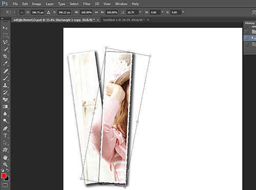 Langkah kedua belas membuat efek vertical panel photo dengan Adobe Photoshop