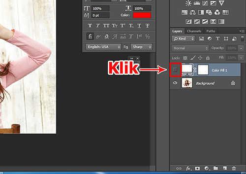 Langkah ketiga membuat efek vertical panel photo dengan Adobe Photoshop