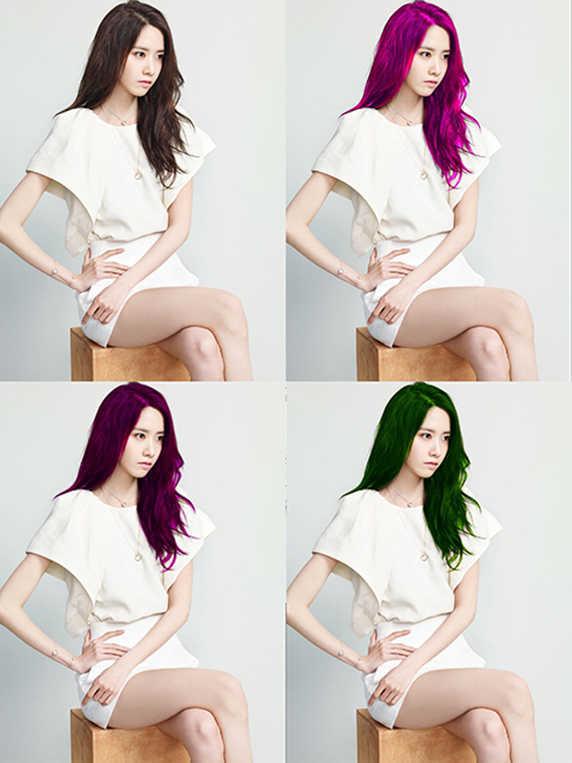 hasil Cara Mengubah / Mengganti Warna Rambut Dengan Photoshop