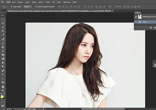 langkah pertama Cara Mengubah  Mengganti Warna Rambut Dengan Photoshop