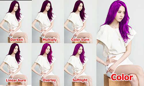 langkah ke sembilan Cara Mengubah  Mengganti Warna Rambut Dengan Photoshop