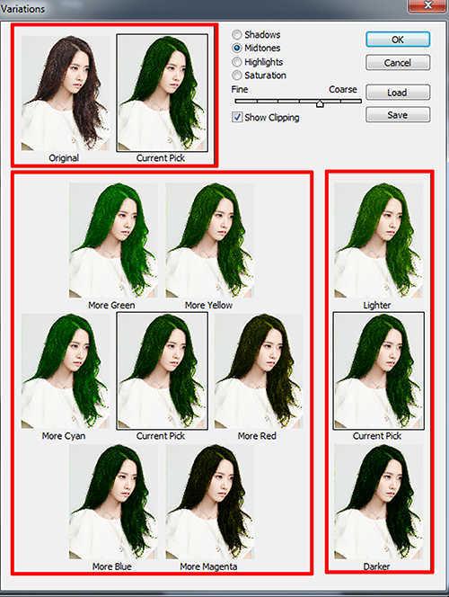 langkahke tiga Cara Mengubah  Mengganti Warna Rambut Dengan Photoshop
