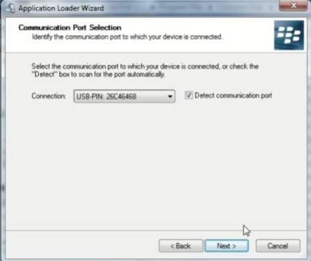 Langkah keempat cara flash atau install ulang Blackberry Curve 8520