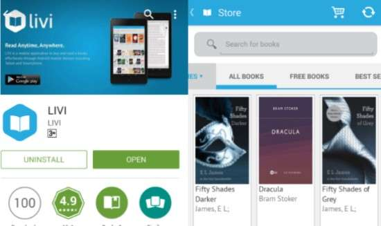 Livi Aplikasi Ebook Reader Terbaik untuk Android