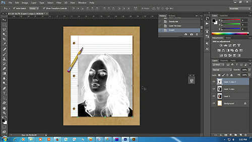 langkah ke enam Cara Membuat Sketsa Wajah Dengan Photoshop