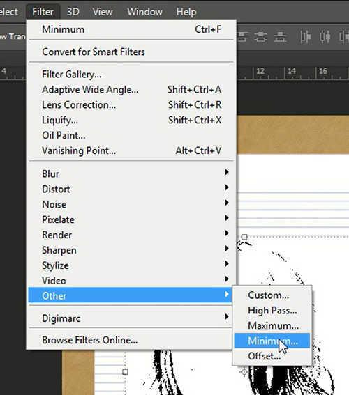 langkah ke delapan Cara Membuat Sketsa Wajah Dengan Photoshop