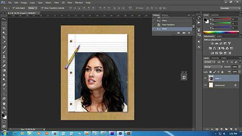 Langkah pertama Cara Membuat Sketsa Wajah Dengan Photoshop